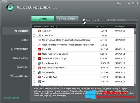 Screenshot IObit Uninstaller for Windows 8