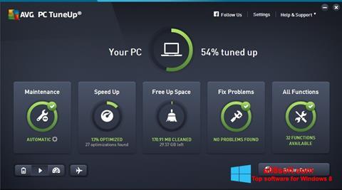 Screenshot AVG PC Tuneup for Windows 8