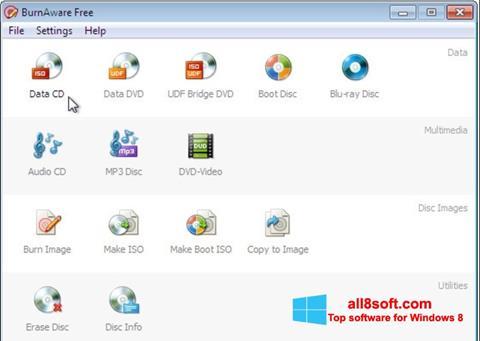 Screenshot BurnAware Free for Windows 8