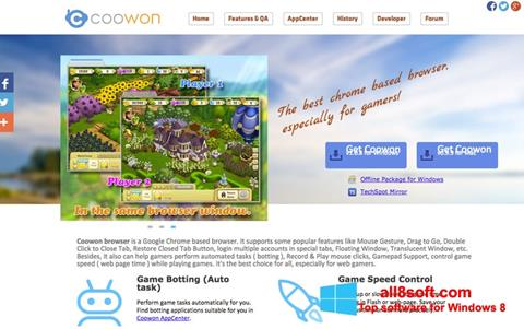 Screenshot Coowon Browser for Windows 8