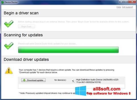 Screenshot Device Doctor for Windows 8