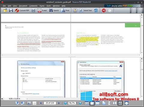 Screenshot Nuance PDF Reader for Windows 8