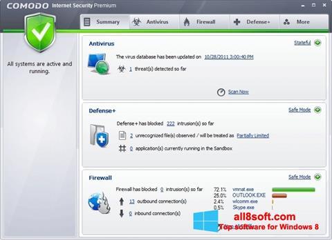 Screenshot Comodo Internet Security Premium for Windows 8