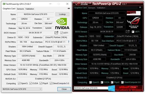 Screenshot GPU-Z for Windows 8