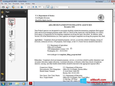 Screenshot Adobe Reader for Windows 8