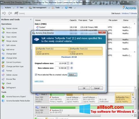 Screenshot Acronis Disk Director for Windows 8