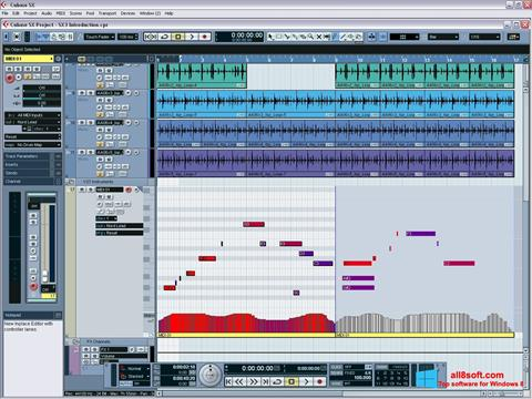 Screenshot Cubase SX for Windows 8
