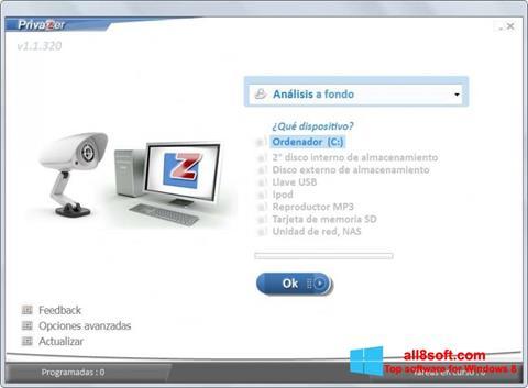 Screenshot PrivaZer for Windows 8