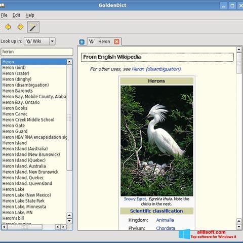 Screenshot GoldenDict for Windows 8