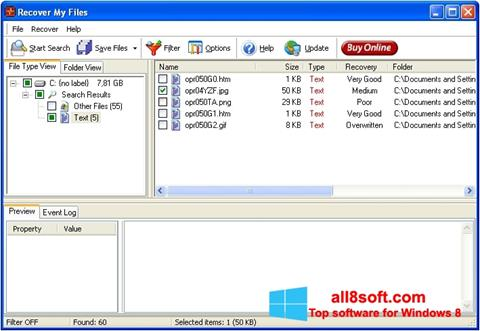 Screenshot Recover My Files for Windows 8