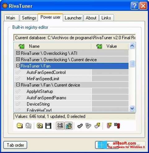 Screenshot RivaTuner for Windows 8