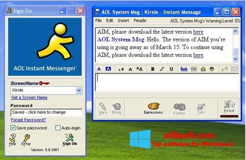 Screenshot AOL Instant Messenger for Windows 8