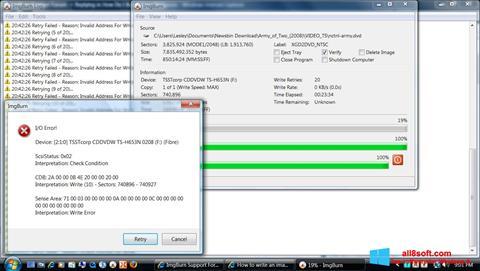 Screenshot ImgBurn for Windows 8