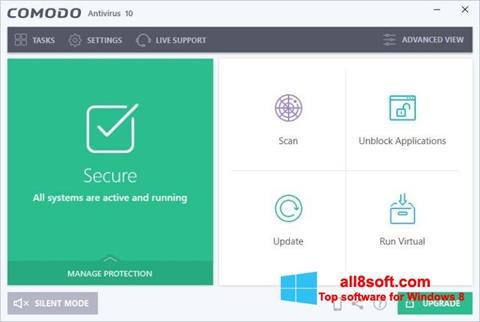 Screenshot Comodo Antivirus for Windows 8