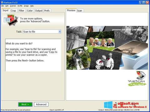 Screenshot VueScan for Windows 8