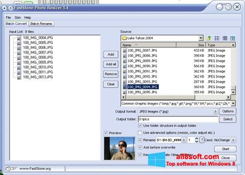 Download FastStone Photo Resizer for Windows 8 (32/64 bit
