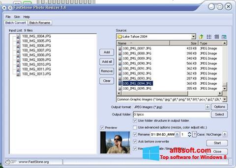 Screenshot FastStone Photo Resizer for Windows 8