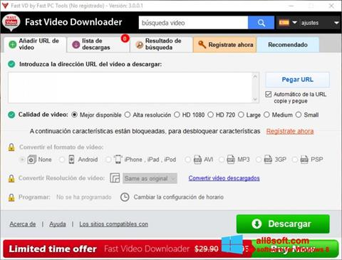 Screenshot Fast Video Downloader for Windows 8