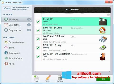 Screenshot Atomic Alarm Clock for Windows 8