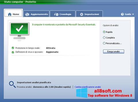 Screenshot Microsoft Security Essentials for Windows 8