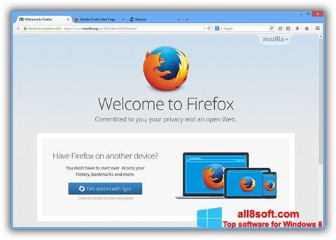 Screenshot Mozilla Firefox Offline Installer for Windows 8