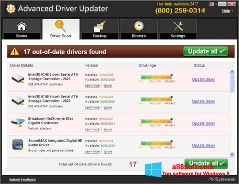 Screenshot Advanced Driver Updater for Windows 8
