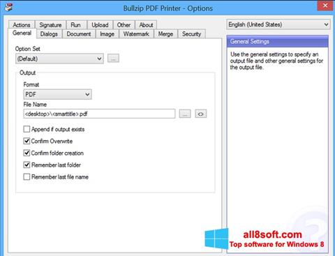 Screenshot BullZip PDF Printer for Windows 8