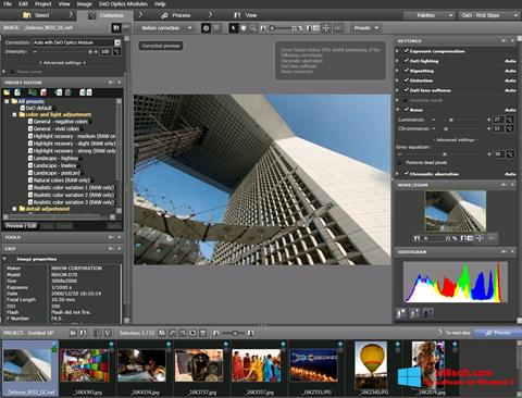 Screenshot DxO Optics Pro for Windows 8