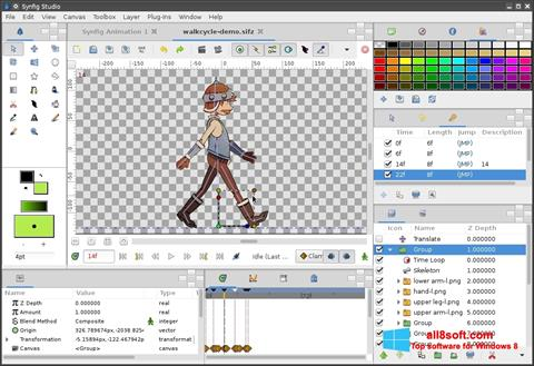 Screenshot Synfig Studio for Windows 8