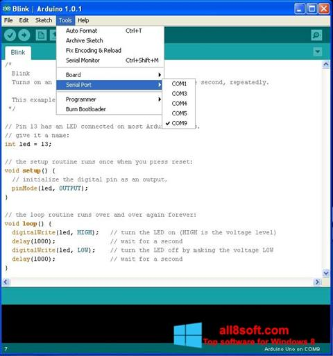 Screenshot Arduino for Windows 8