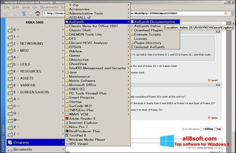 Screenshot AviSynth for Windows 8