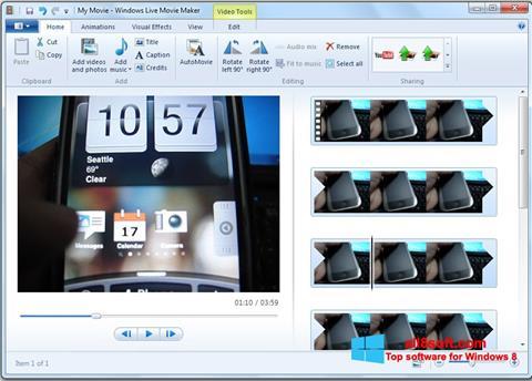 Screenshot Windows Live Movie Maker for Windows 8