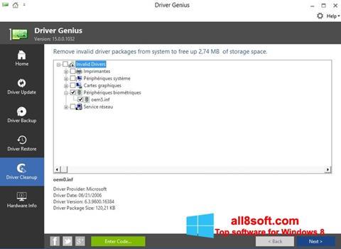 Screenshot Driver Genius for Windows 8