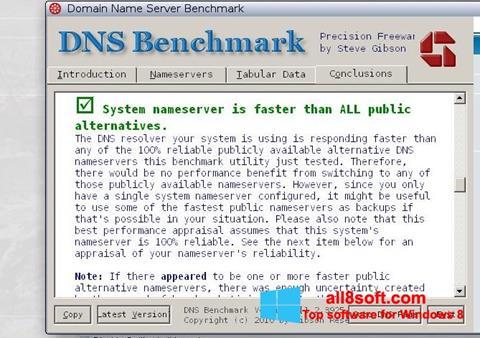 Screenshot DNS Benchmark for Windows 8
