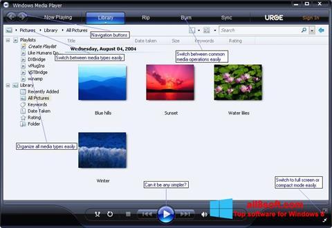 Screenshot Media Player for Windows 8