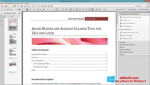 Screenshot Adobe Acrobat Pro for Windows 8