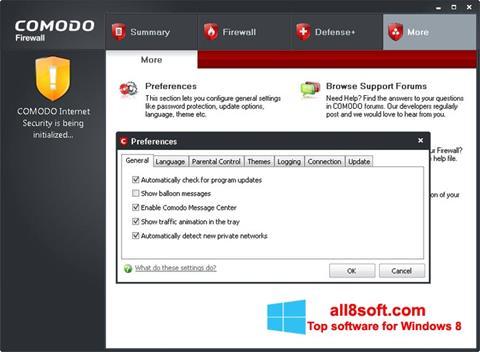 Screenshot Comodo Firewall for Windows 8