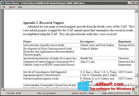Screenshot DocX Viewer for Windows 8