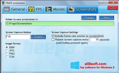 Screenshot Fraps for Windows 8