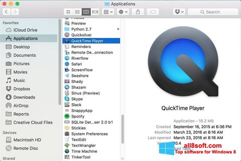 Screenshot QuickTime Pro for Windows 8