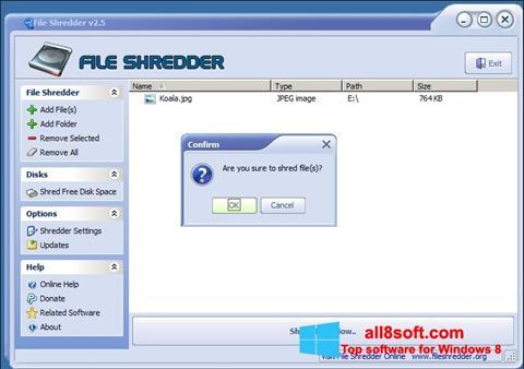 Screenshot File Shredder for Windows 8