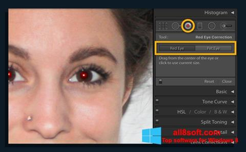 Screenshot Red Eye Remover for Windows 8