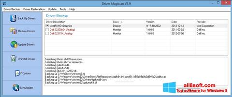 Screenshot Driver Magician for Windows 8