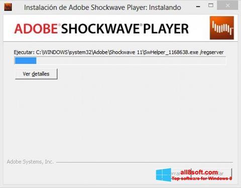 Screenshot Adobe Shockwave Player for Windows 8