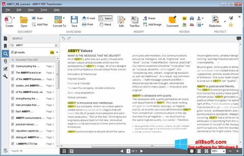Screenshot ABBYY PDF Transformer for Windows 8