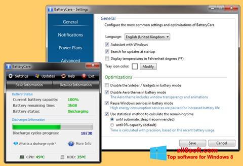 Screenshot BatteryCare for Windows 8