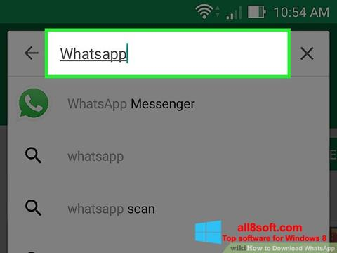 Download WhatsApp for Windows 8 (32/64 bit) in English
