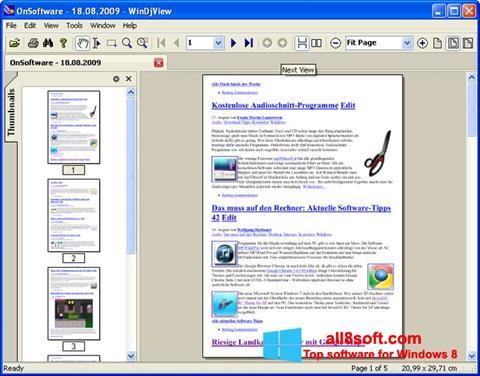 Screenshot WinDjView for Windows 8