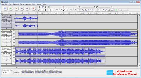 Screenshot Audacity for Windows 8