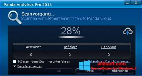 Screenshot Panda Antivirus Pro for Windows 8